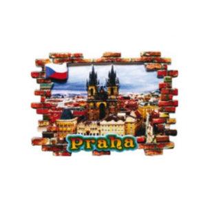 Keramický magnet Praha