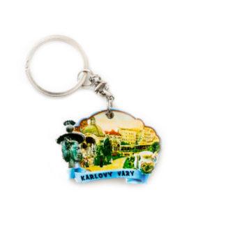 Keramická klíčenka Karlovy Vary